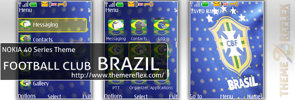 Nokia 40series Theme - Brazil Football Club - Blue