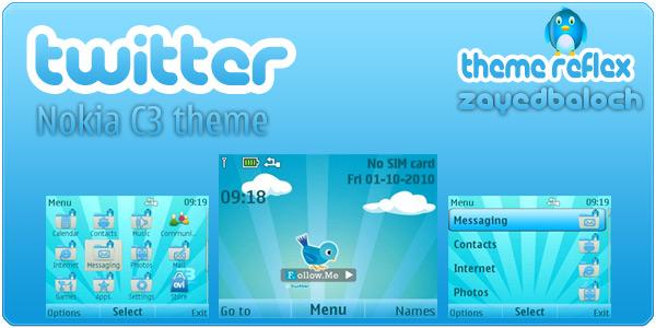 Twitter Nokia C3 Theme