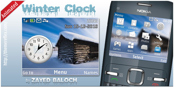 [share] Tổng hợp theme cực đẹp cho Nokia C3-00 & X2-01 Winter-Clock-C3-theme-by-ZayedBaloch