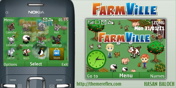 FarmVille Nokia C3 / X2-01 theme