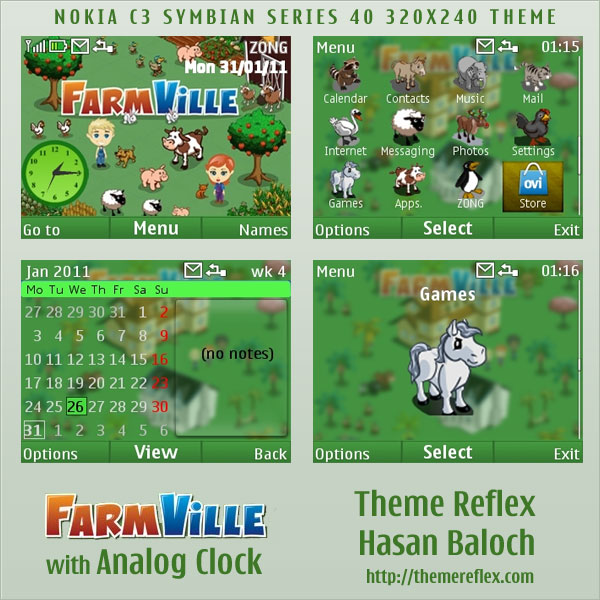 FarmVille Theme for Nokia C3 / X2-01