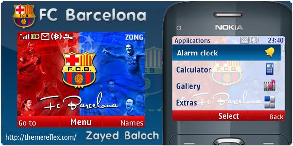 Barcelona Nokia C3 theme