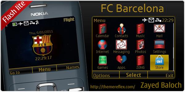 Barcelona Nokia C3 Themes