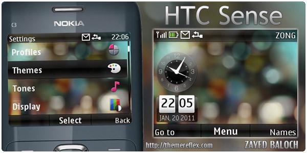 HTC Sense theme for Nokia C3 / X2-01