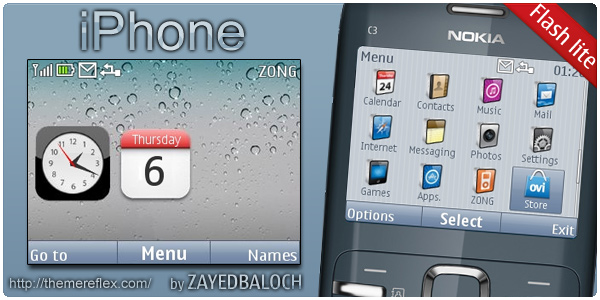 iPhone theme for Nokia C3 theme