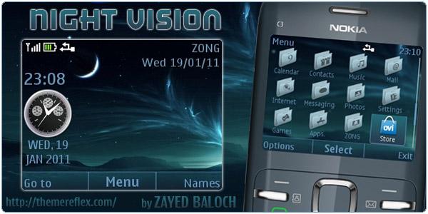 Night Vision – Nokia C3 / X2-01 Themes