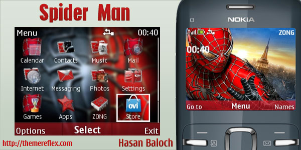 ... man theme for nokia c3 x2 01 now give your nokia c3 x2 01 spiders
