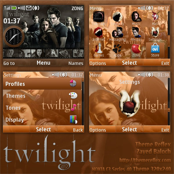 Twilight theme for Nokia C3 / X2-01