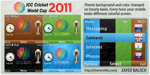 Cricket World Cup theme for Nokia C3 / X2-01
