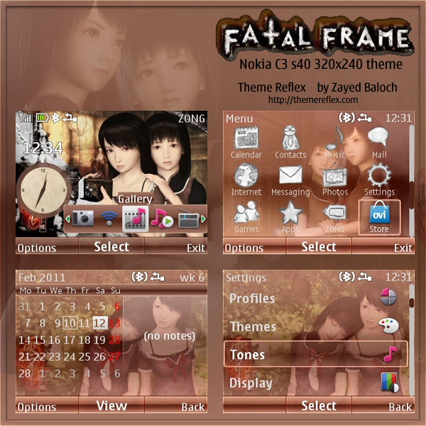 Fatal Frame theme for Nokia C3