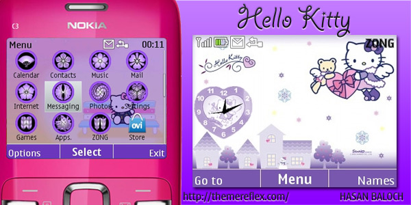 Hello Kitty Theme For Nokia X2 01 C3 Themereflex