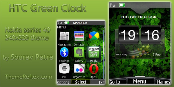 HTC theme for Nokia mobile themes