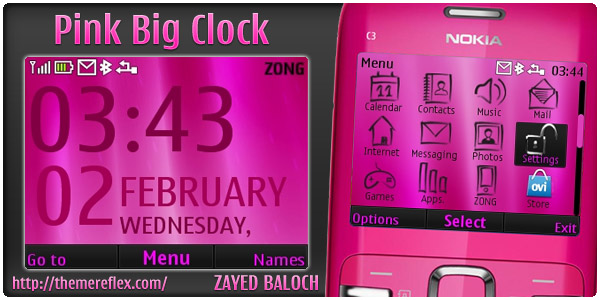 Nokia C3 / X2-01 clock theme