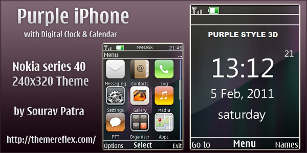 Nokia series 40 240x320 .nth theme
