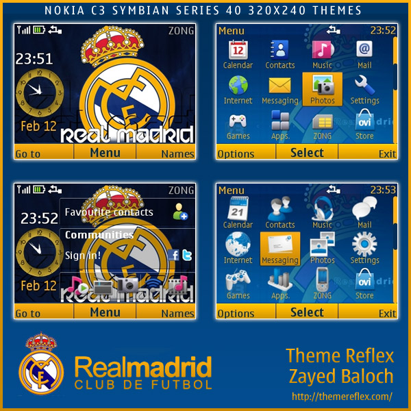 Real Madrid Nokia C3 / X2-01 Theme
