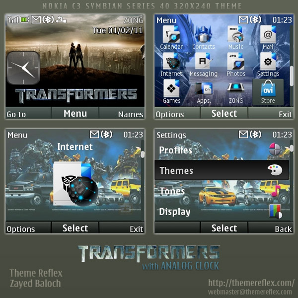 Transformers theme for nokia c3 x2 01 themereflex
