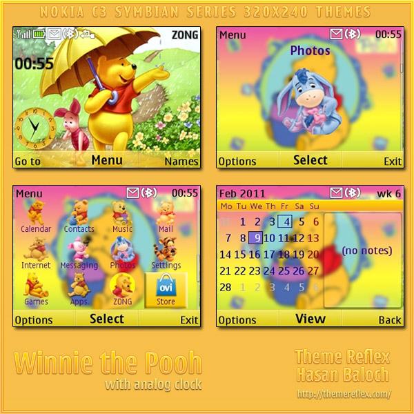 Winnie the Pooh – Nokia C3 / X2-01 theme – ThemeReflex