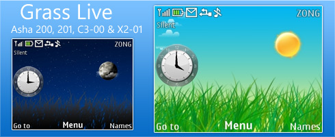 Grass Live Theme for Nokia C3 / X2-01