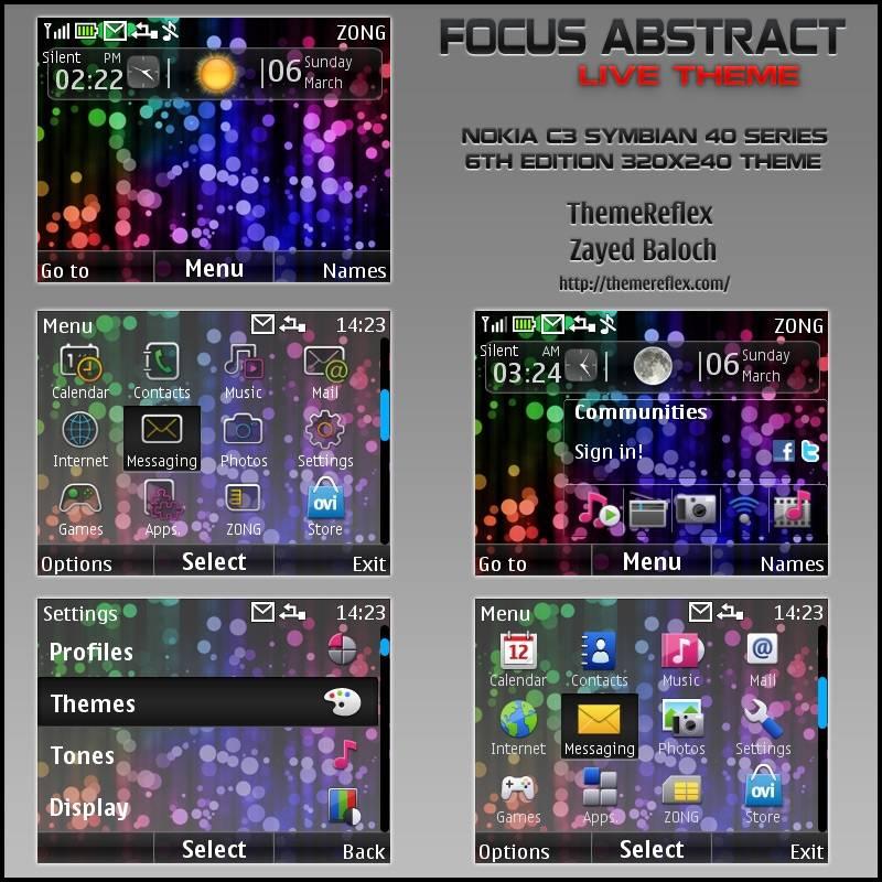 Nokia X2-01 Themes