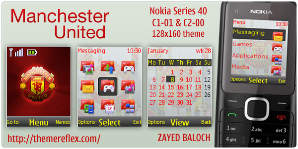 ManU theme for Nokia C1-01 C2-00 themes