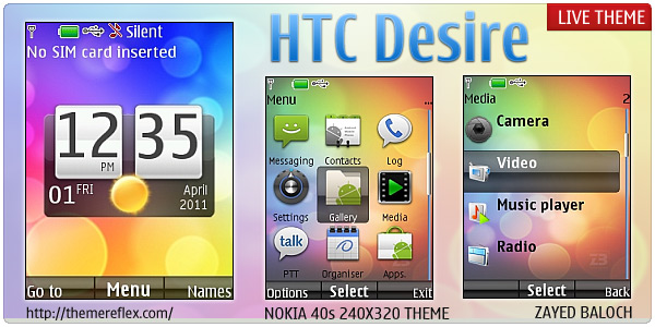 HTC Desire Live Themes for Nokia X2