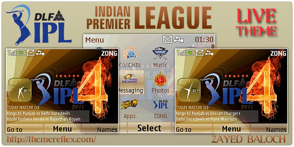 IPL 4 Schedule Themes