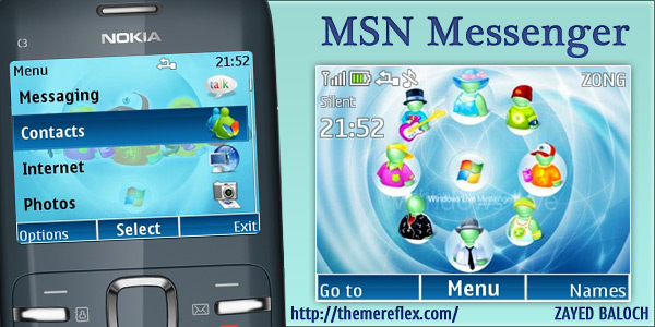 MSN Messenger theme for Nokia C3 & X2-01