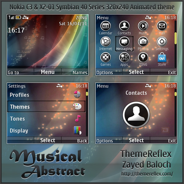Music player Theme For Nokia c3 x asha Phones
