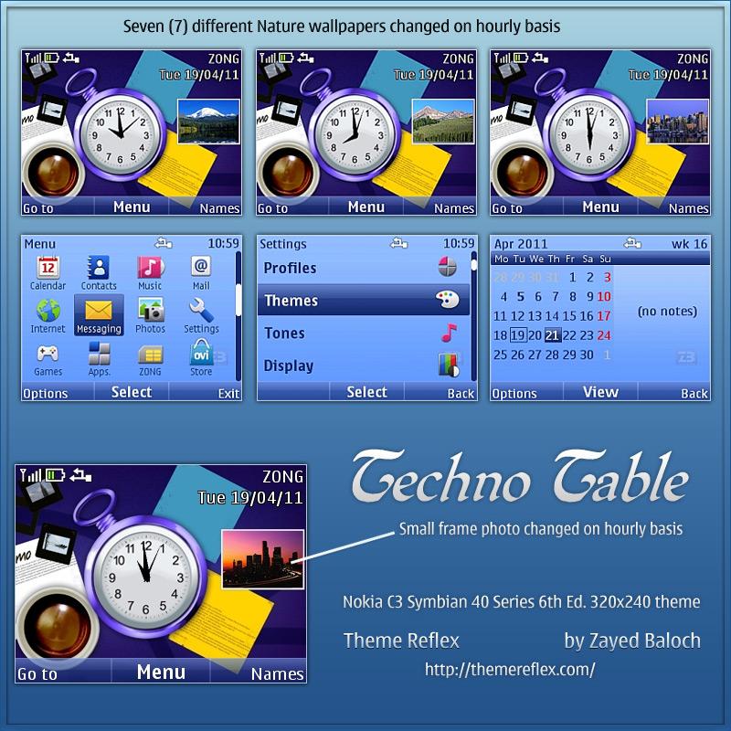 Love Wallpaper Nokia X2 01 : Techno Table theme for Nokia c3 & X2-01 ThemeReflex
