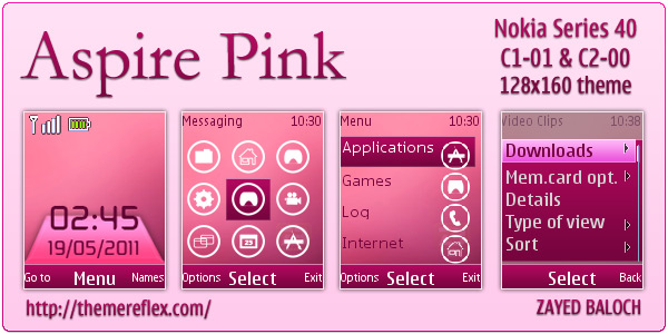 C1-01 Pink themes