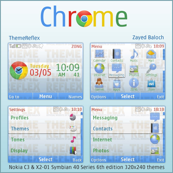 Google Chrome C3 themes