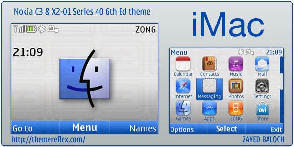 iMac theme for Nokia C3