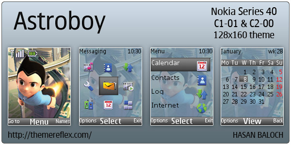 Astroboy theme for Nokia C1-01 & C2-00