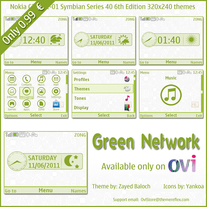 Nokia X2-01 theme on Ovi Store
