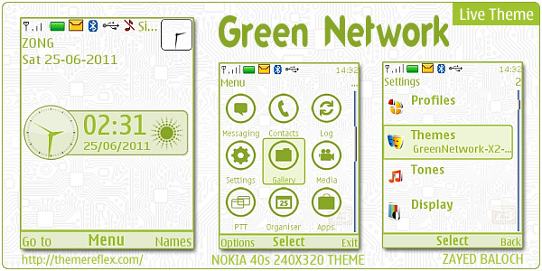 Nokia X2 C2-01 and 240x320 themes