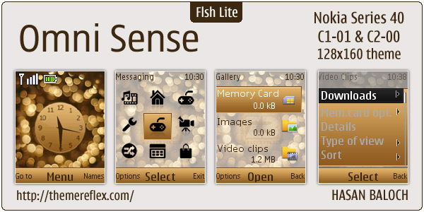 Nokia Flash Lite C1-01 themes