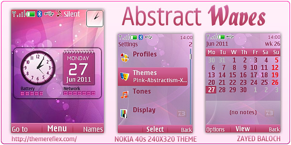 Abstract Waves theme for Nokia X2 & 240×320