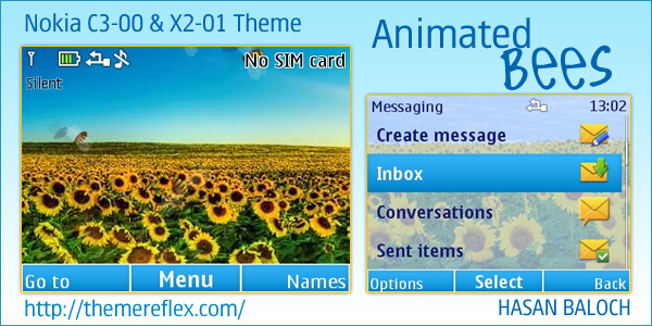 Nokia C3 Animated themes