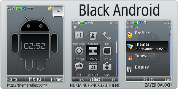 Black Android themes