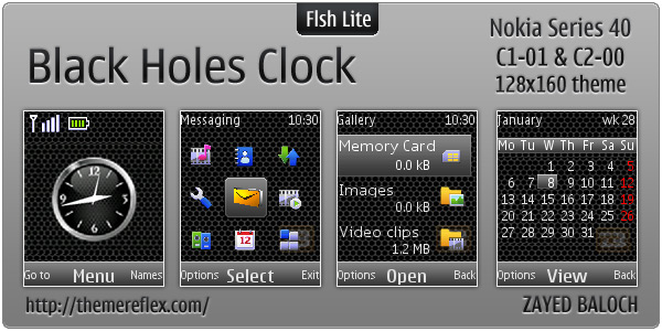 Clock Flash lite theme