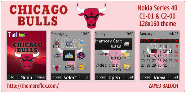 Chicago Bulls theme for Nokia C1-01