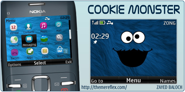 C3-00 Cookie Monster themes