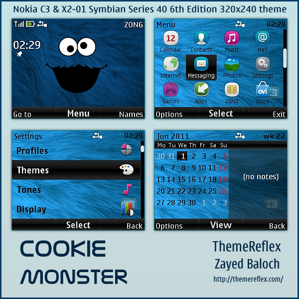 X2-01 Cookie Monster theme