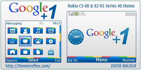 google 1 button. Google +1 Nokia C3 themes