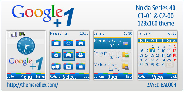 google 1. After Google +1 theme for