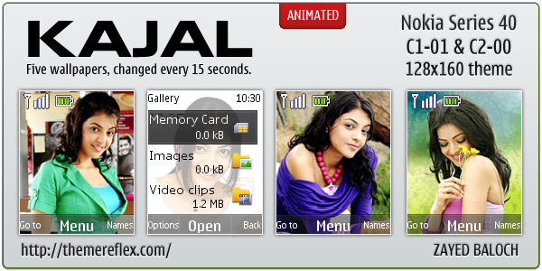 Kajal Agarwal theme for C1-01