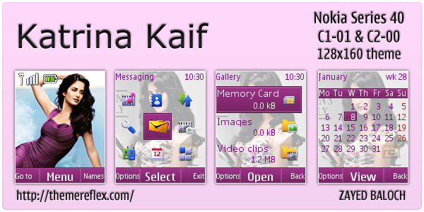 Katrina Kaif C1-01 theme