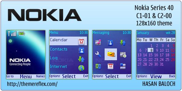 Nokia theme for Nokia C1-01 & C2-00