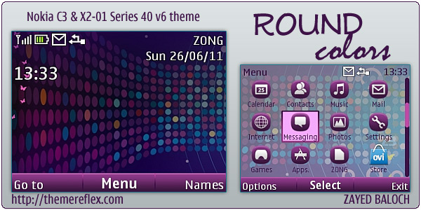 Color theme for Nokia C3 and X2-01