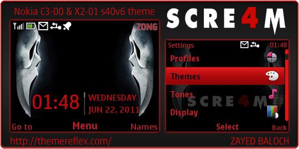 Scre4m mobile theme